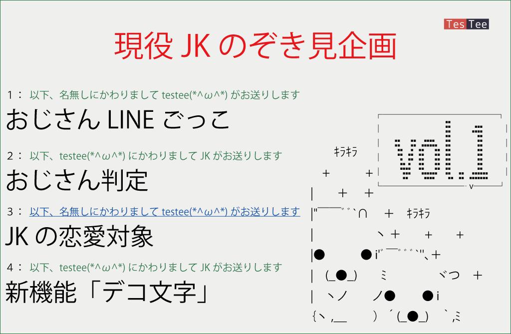 現役JKのぞき見企画【Vol.1】「おじさんLINEごっこ」の実態調査