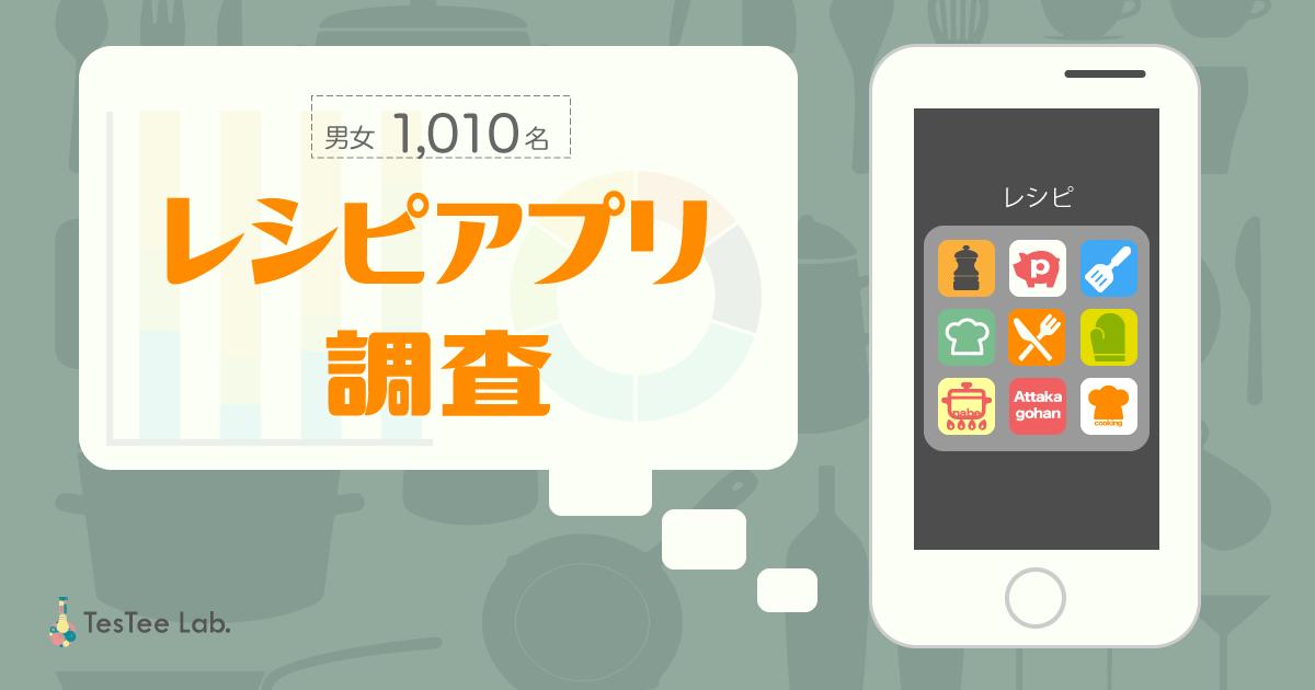 【NPSリサーチ第1弾】レシピアプリに関する調査