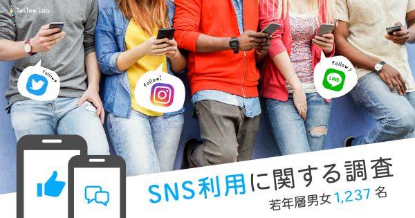 【若年層男女1,237名】SNS利用に関する調査