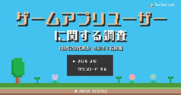 ゲームアプリユーザーに関する調査【10代20代対象】