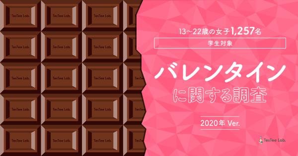バレンタインに関する調査【2020年版】