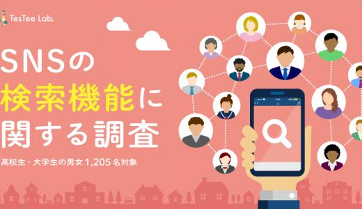 SNSの検索機能に関する調査(2020年)【高校生・大学生の男女対象】